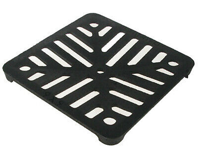 """Square 5"""" (125mm) Cast Iron Heavy Duty Gully Grid Drain Cover Grate Metal"""