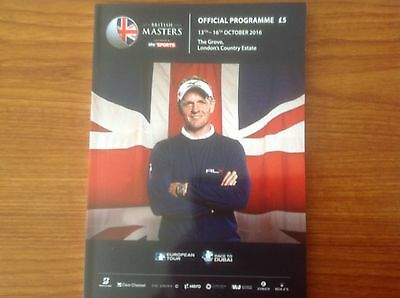 2016 Sky Sports - British Masters Official Programme - The Grove