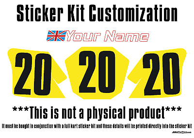 Sticker Kit Customisation Fee - KARTING - JakeDesigns