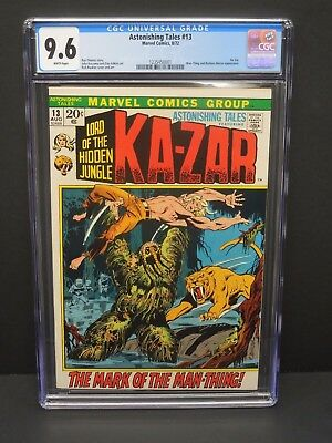 Marvel Astonishing Tales #13 1972 Cgc 9.6 White Pages Ka-Zar And Man-Thing