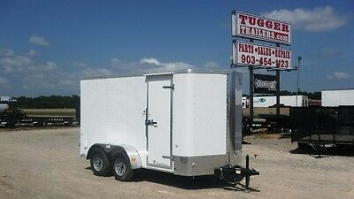 All New Cargo Craft 6 x 12 12' Elite-V TA Lawn Construction Job Enclosed Trailer