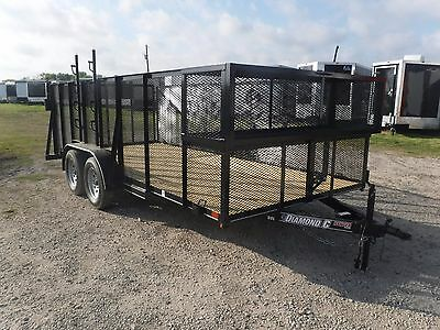 All New 83x16 16ft Diamond C Ranger Series Landscape Lawn Care Utility Trailer!!