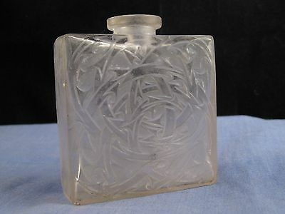Vintage Art Deco French Frosted Glass Perfume Scent Bottle Lalique Volnay
