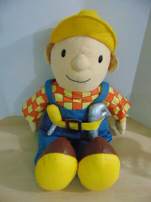 "Bob the Builder Huge 28"" Tall Bob Soft Doll Made In England RARE MINT"