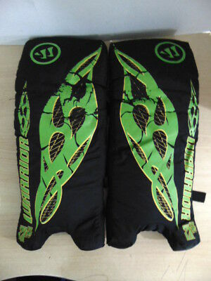 Hockey Goalie Street Hockey Child  21 inch Age 4-7 Shin Pads Warrior Green Black