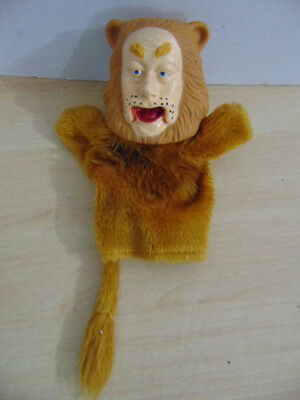 Wizard Oz Vintage Plush Hand Puppet Cowardly Lion Turner 1988 50th Anniversary