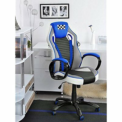 Gaming Chair Computer Desk Racing Office High Back PU Leather Task Headrest