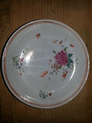 18th/19th Century Chinese Export famille rose hand decorated saucer dish