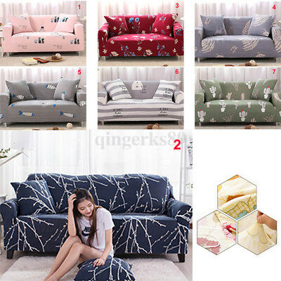 1 2 3 4 Seater Elastic Stretch Chair Sofa Covers Protector Couch Cover Slipcover