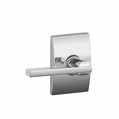 Schlage F10LAT625CEN Century Collection with Latitude Passage Lever Bright Ch...