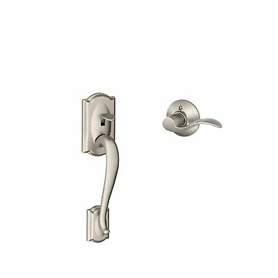Schlage FE285 CAM 619 ACC LH Camelot Front Entry Handleset with Interior Acce...