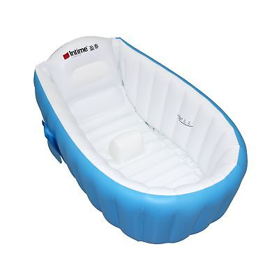 Baby Infant Travel Inflatable Non Slip Bathing Tub Bathtub (Blue) Blue