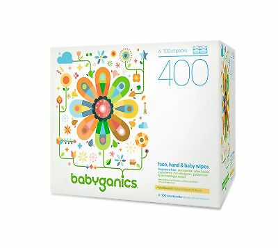 Babyganics Face Hand and Baby Wipes Fragrance Free 400-Count (Contains Four 1...