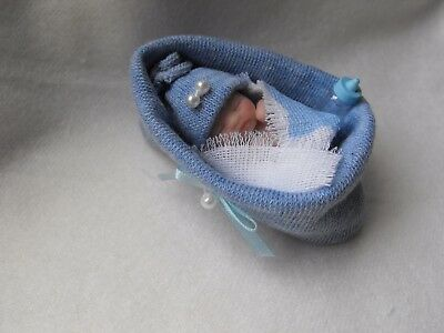 OOAK artist miniature  5 cm  polymer  clay  baby doll  1/12th by HARRY