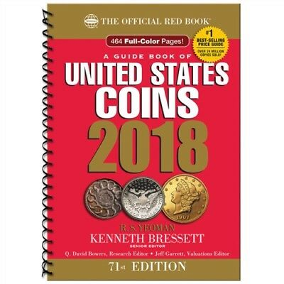 A Guide Book of United States Coins 2018: The Official Red Book, Spiral, NEW