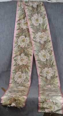 water silk ribbon 11 in. x 140 in. old new Victorian antique original