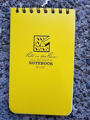 New, Rite in the Rain All-Weather Notebook No 135 3x5