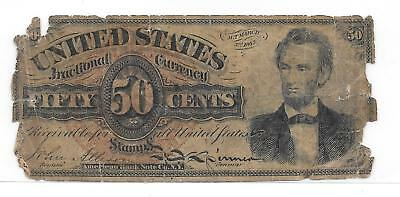 50 Cent Lincoln Fractional Note Fr-1374