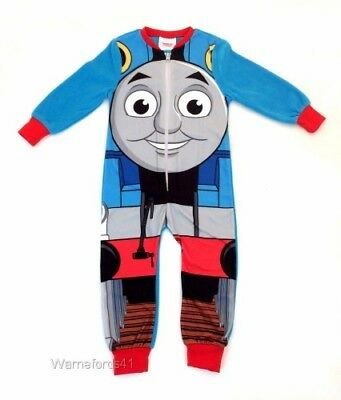 Boys THOMAS THE TANK FLEECE all in one, onesi,onezee, pyjamas, pjs 18mths -5yrs