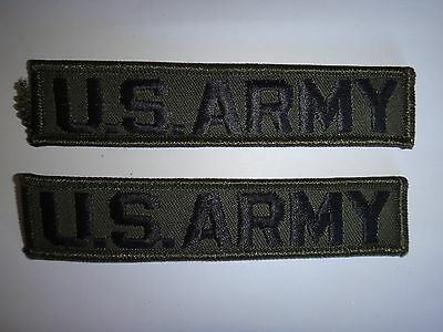 2 Merrowed Edge U.S. ARMY Subdued Pocket Patches *Unused*