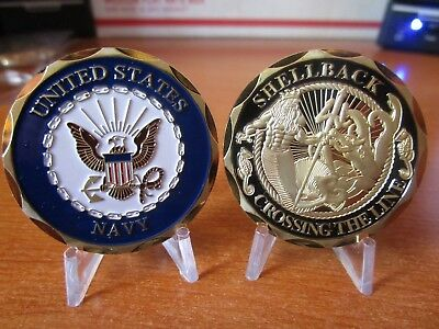 United States Navy Shellback Crossing The Line USN Challenge Coin