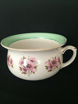 """""""Chamber Pot"""" Vintage hand painted Made in England"""