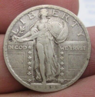 1919-P Standing Liberty Silver Quarter Nice Condition No Reserve