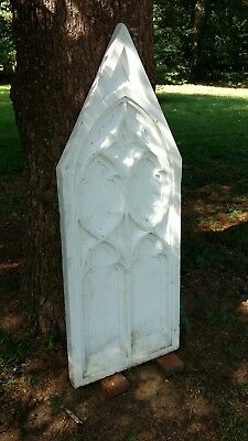 Large Antique Marble Gothic Architectural Panel From Church Salvage