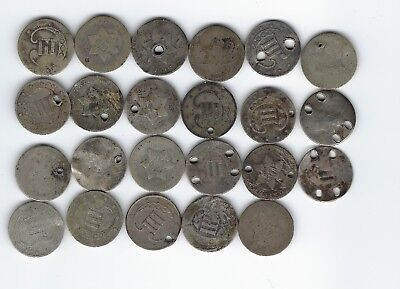 23 Dateless Three Cent Silver Pieces