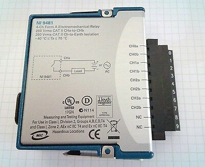 National Instruments cRIO 9481 4-Ch, 60 VDC(1 A)/250 Vrms(2 A) Relay Module