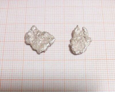 3.64 Grams .999 Crystalline Silver Large Crystal Nuggets