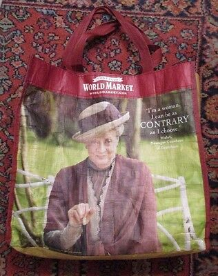 DOWNTON ABBEY Violet reusable plastic tote bag  FREE SHIPPING!