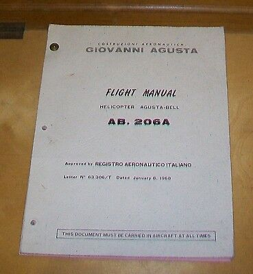 Agusta-Bell Ab. 206A Helicopter Flight Manual 1969