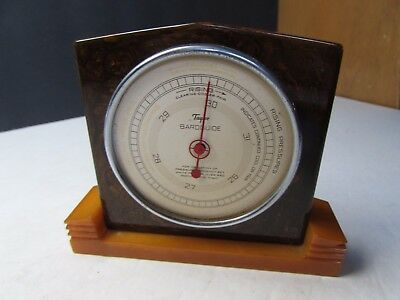 Vintage Bakelite Art Deco Table Top Barometer