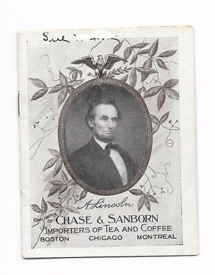 1909 Chase & Sanborn Coffee 16-page advertising booklet about Abraham Lincoln.