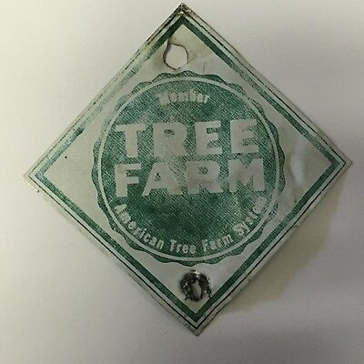 Vintage Small Tree Farm Sign Forest Service
