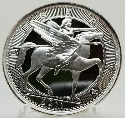 Daniel Carr 2011 - 20 AMEROS Liberty Riding Winged Horse 1oz Silver Proof-Like