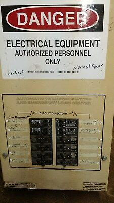 Guardian Generac Automatic Transfer Switch Load Center 100 amp 12 circuit