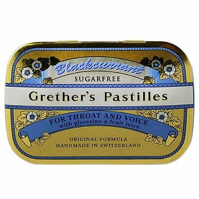 Grether's Sugarless Blackcurrant Pastilles Mini Case 20g pastilles