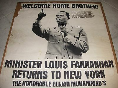vintage1980 african american black americana farrakhan collage nyc islam poster