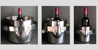3 VERY RARE CHAMPAGNE & ICE BUCKET's attr to MARIA PERGAY 1970's SIMAR INOX
