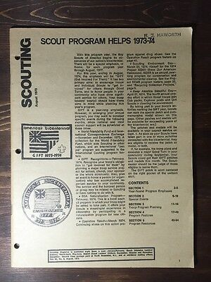 Vintage Scouting Magazine - August 1973 - Boy Scout Book Booklet