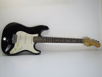 SQUIRE STRAT by FENDER ELECTRIC GUITAR BLACK