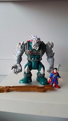 Fisher price imaginext D C Superfriends - Doomsday and Superman