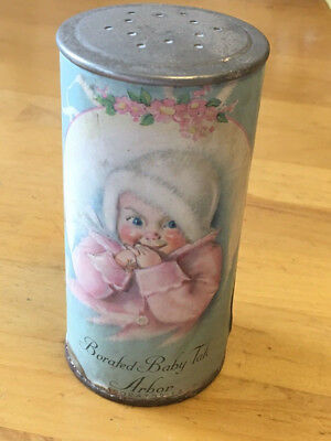 Borated Baby Talc Advertising Tin