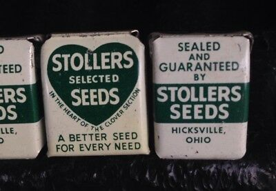 Vintage Stoller Seed Sack Bag 20 Clips Advertising Hicksville Ohio OH