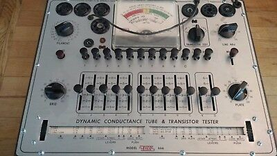 Eico Model 666 Tube Tester In Good Shape Completly Gone Over  All Controls Funct