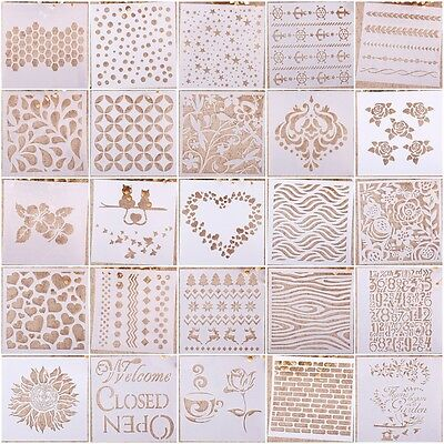 Reusable Airbrush Template Painting Stencils Scrapbooking Decor Wall Craft us