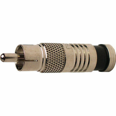 Platinum Tools 18051C RCA RG6 Compression Connector, Nickel Plate 6/Clamshell