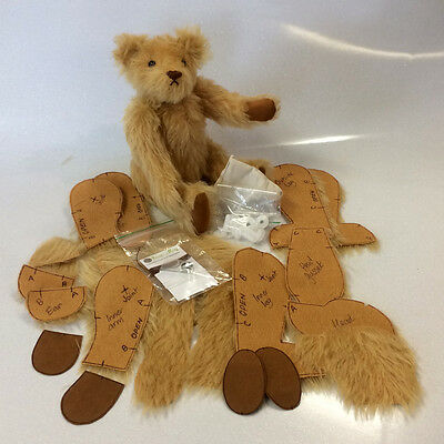 "12"" Mohair Teddy Bear Making Kit 'Gerry' by Rose-May"
